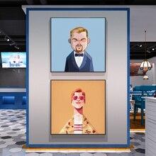 Голливудские фигурки фильмов Леонардо ДиКаприо кумир плакаты и принты Эстетическая Картина на холсте Настенная картина Декор жидкость