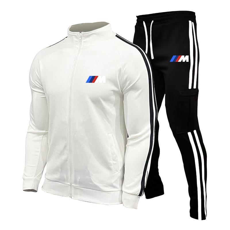 Neue BMW M Männer der Herbst Winter Sets Zipper Hoodie + hosen Zwei Stücke Lässige Männlichen Sportswear Gym Marke kleidung Schweiß Anzug