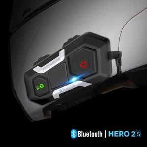 Image 1 - HEROBIKER Motorcycle Helmet Intercom Waterproof Wireless Bluetooth Intercom Motorcycle Headset Interphone For 3 Rides 1200M