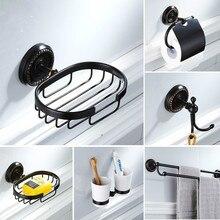 Black Bathroom Accessories Brass Toilet Brush Holder Towel Ring Towel Rack Soap Box Bathroom Hardware Kit Bathroom Sets