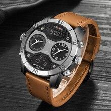 цена на KADEMAN Luxury Dual Display Men Watch Top Brand Digital Analog Waterproof Wristwatch Big Dial Male Military Sports Clock Relogio