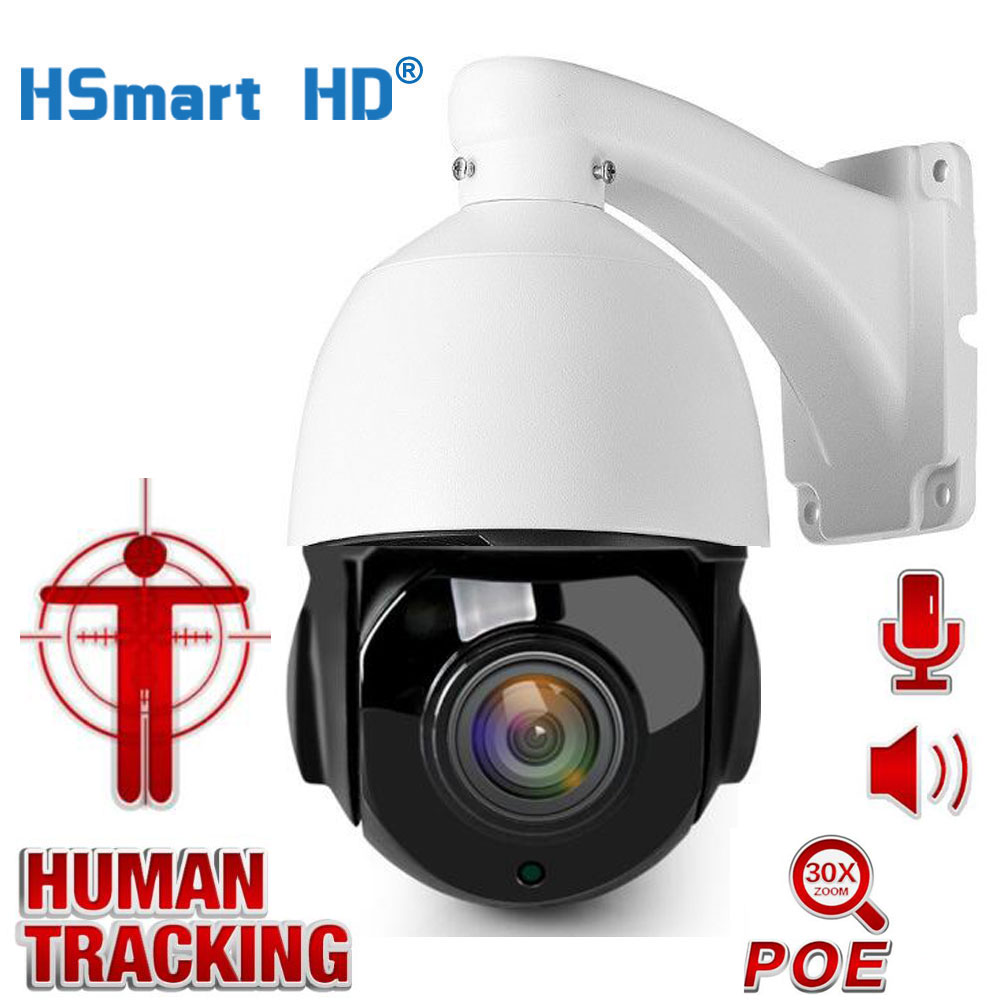 CCTV Surveillance AI Auto Tracking POE PTZ IP Camera Two Way Audio 30X Zoom 1080P H.265 Outdoor Cameras IR 80M ONVIF