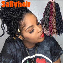 Sallyhair Nu Locs Soft Dreadlocks Crochet Hair 21 strands/pack Ombre Faux Croche