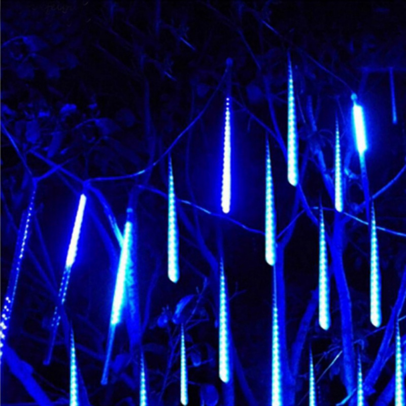 8 tubos 144 leds luzes da corda