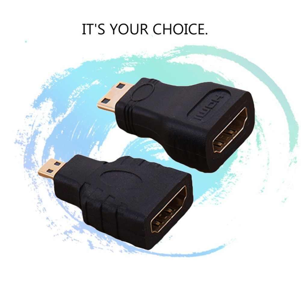 Plated Converter Hd Connector Uitbreiding Adapter Goud Voor Video Tv Voor Xbox 360 Hdtv 1080P Hdmi Bundel 1 Mini hdmi Hdmi Kabels