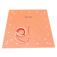 110V 220V CR10 S5 20 X 20 Silicone Heater Pad 508 x 508mm Heatbed For Creality CR 10 S5 3D Printer Large Print Bed w/ 24 Holes