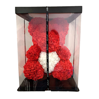 2020 DropShipping 40cm Rose Bear Heart Artificial Flower Rose Teddy Bear For Women Valentine's Wedding Birthday Christmas Gift