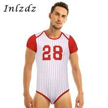 Мужское нижнее белье, пеленки для влюбленных, комбинезон, пижамы для взрослых, для малышей, с вырезом, прессованным шаговым швом, бейсбольная тематика, комбинезон, боди