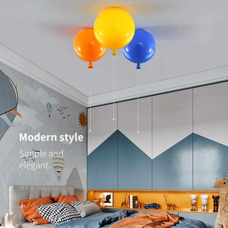 Colorful balloon ceiling light kid child bedroom lamp baby room light study living room kindergarten bar