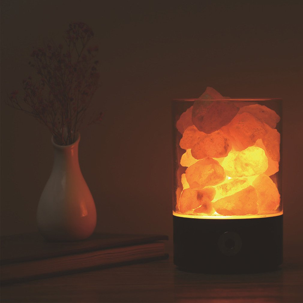 Creative Salt Night Light Crystal Lamp Negative Ion Air Purifying Health Life Night Light For Home Aisle Bedroom Decoration