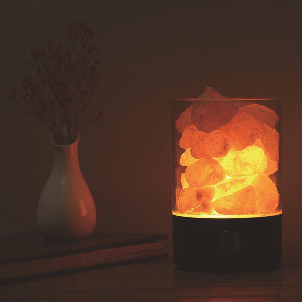 Creative Salt Night Light Crystal Lamp Negative Ion Air Purifying Health Life Night Light For Home Aisle Bedroom Decoration