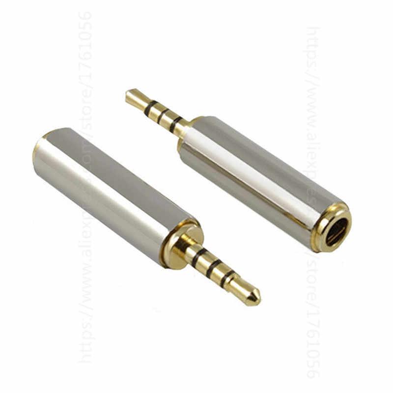 Wysokiej jakości 1pc złoty 2.5mm mężczyzna do 3.5mm kobieta audio adapter stereo konwerter wtyczki gniazdo słuchawkowe