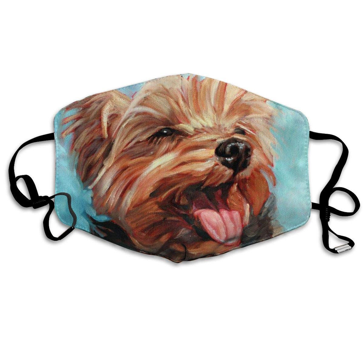 Dog Yorkshire Terrier Unisex Mask Indoor Outdoor Cycling Camping Travel Windproof Sun Anti Dust Mask Mouth With Adjustable Ear