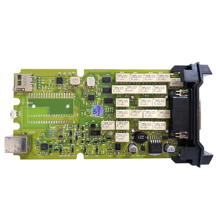 A++ качественный одноплатный сканер TCS OBDIICAT-tcs R3 keygen новейший универсальный 3 в 1 монитор реле bluetooth obd инструмент - Цвет: Yellow green no BT