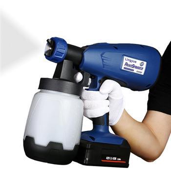 цена на Cordless Paint Spray Airbrush18V Cordless Spray Paint Sprayer With 5 Nozzle For Painting Car Wood Furniture Wall