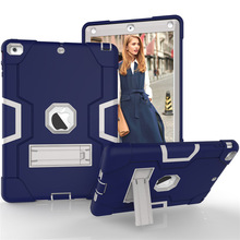 Funda For Ipad Air 1 Case Models A1476 A1475 A1474 Shell Safe Kids Armor Soft Shockproof Silicon +  Hybrid Rugged Hard PC Cover