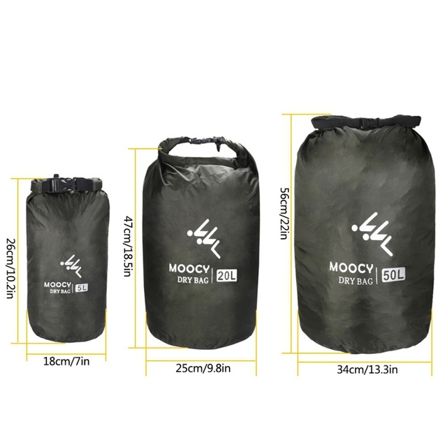 Waterproof Dry Bag Roll Top Sack Swimming Dry Organizer Beach Fishing Storage Bag Drifting Bag Outdoor Canoe Kayak Rafting 1