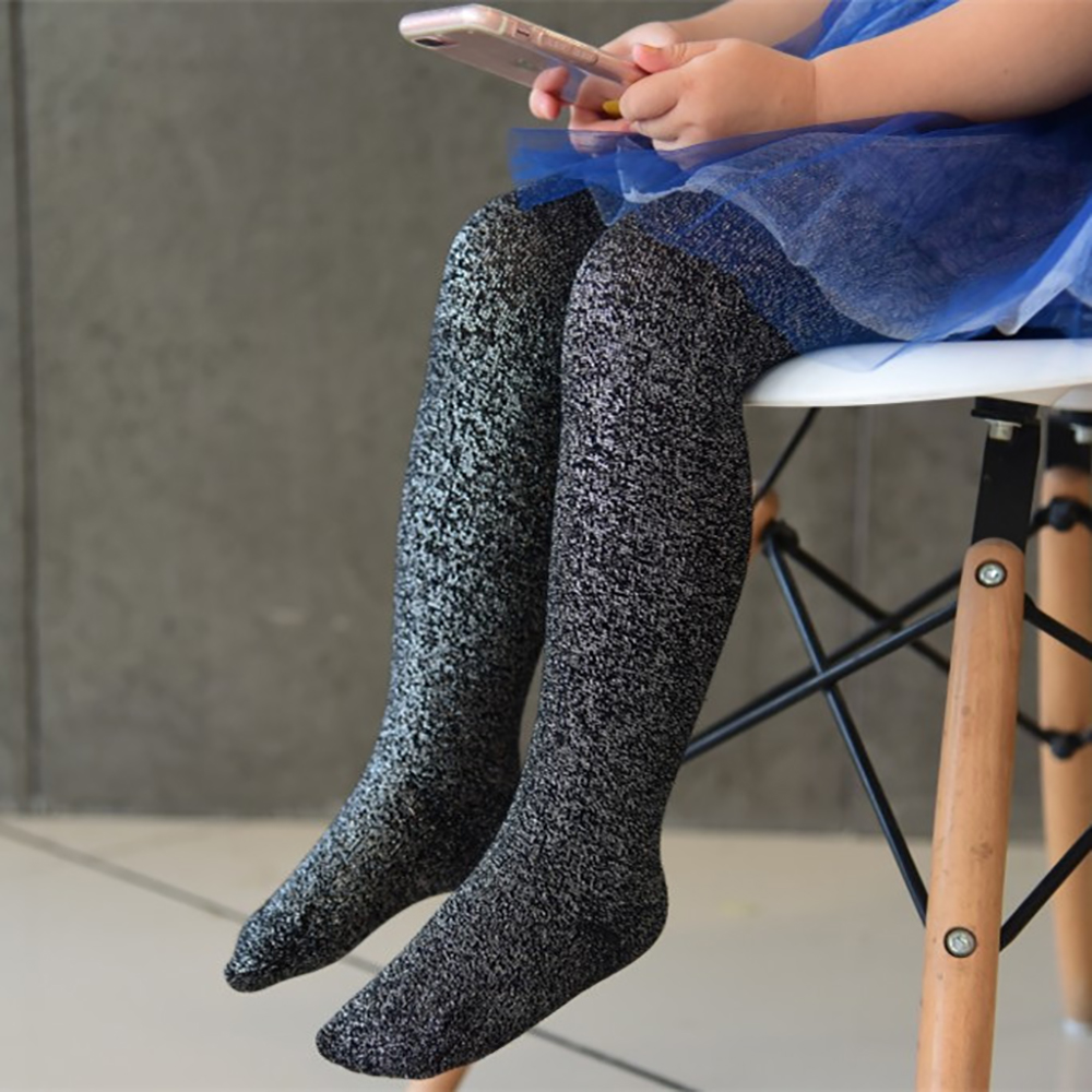 Fashion Shiny Bling Bling Toddler Gril Socks Stock Top Quality Brilliant Glitter Shining Socks Bright Sparkling Socks D30