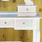 Туалетный столик для макияжа с 5 ящиками зеркальные лампы туалетный столик не с освещенным зеркалом мягкий стул туалетный столик - 5
