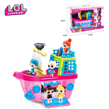 Original LOL Surprise Dolls Toy Children Play House Luxury Cruise Ship with 3 Dolls L.o.l Suprise Toys for Girls Birthday Gifts