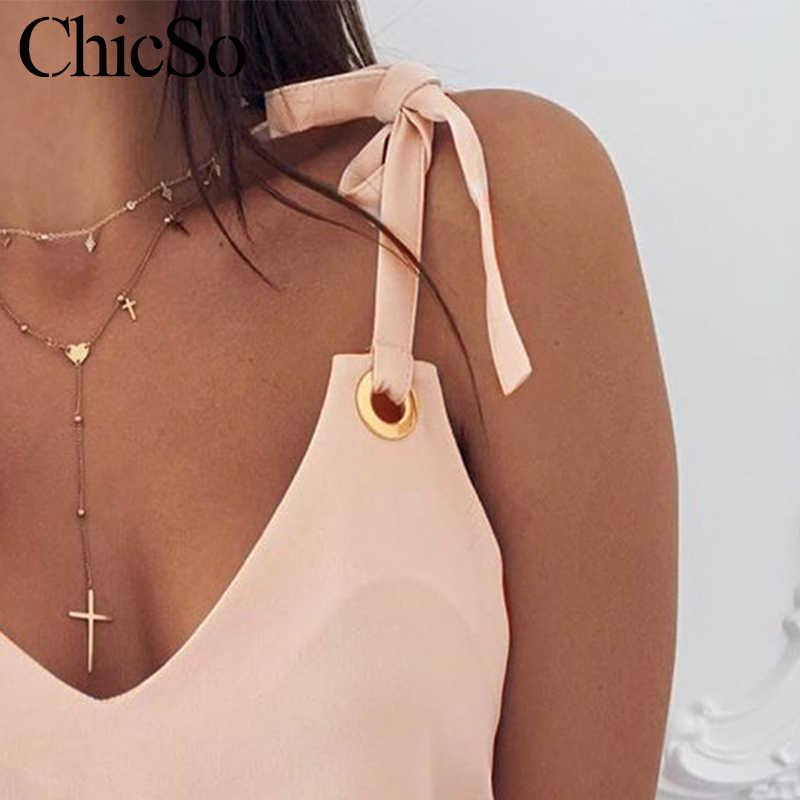 MissyChilli v neck sexy lace up luźne damski tank top kobiety podstawowe bez rękawów różowy camisole lato elegancka impreza swobodny top koszulka na ramiączkach