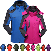 Men Women Skiing Jackets Couple Windbreaker Snowboarding Breathable Sports Jacket Hiking Snowing Ski Suit Jacket Winter Coats