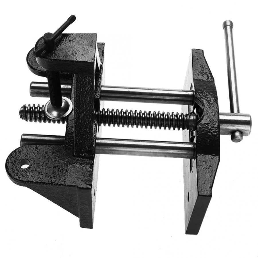 Universal Cast Iron Table Vise Manually Woodworking Carpenters Manual Clamp-On Vice