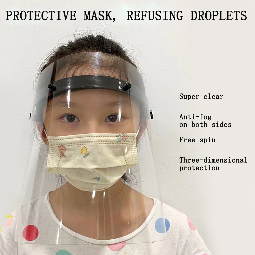 Splash-proof Dust-proof Mask Head-mounted Transparent Protect Mask Rotatable Protective Face Mask Full Face Masks