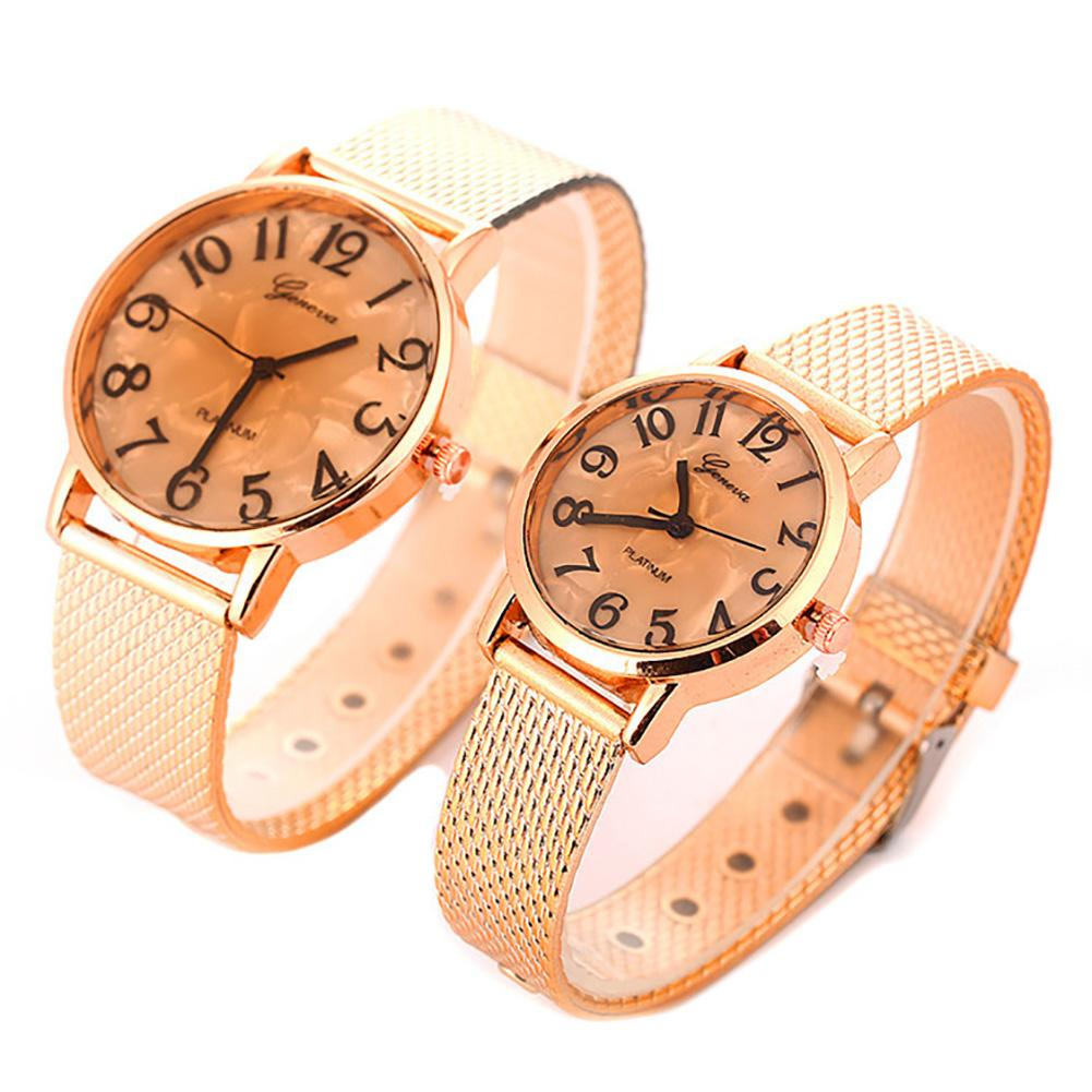 Fashion Unisex Couple Lover Numbers Round Dial Analog Quartz Wrist Watch Gift Ladies Dress Watches Gift Luxury
