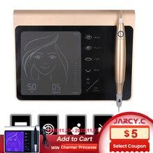 Touch Screen Batteria Ricaricabile US/Spina di UE Kit Macchina di Trucco Permanente Del Sopracciglio del Labbro Eyeliner Macchina Con 2 Cartuccia di Neeldes