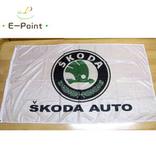 Flag Skoda Auto White 2ft*3ft (60*90cm) 3ft*5ft (90*150cm) Size Christmas Decorations for Home Flag Banner Gifts(China)