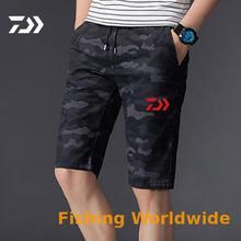 DAIWA брюки Летняя одежда для рыбалки Спортивная дышащая одежда для рыбалки мужские износостойкие дышащие рыболовные шорты
