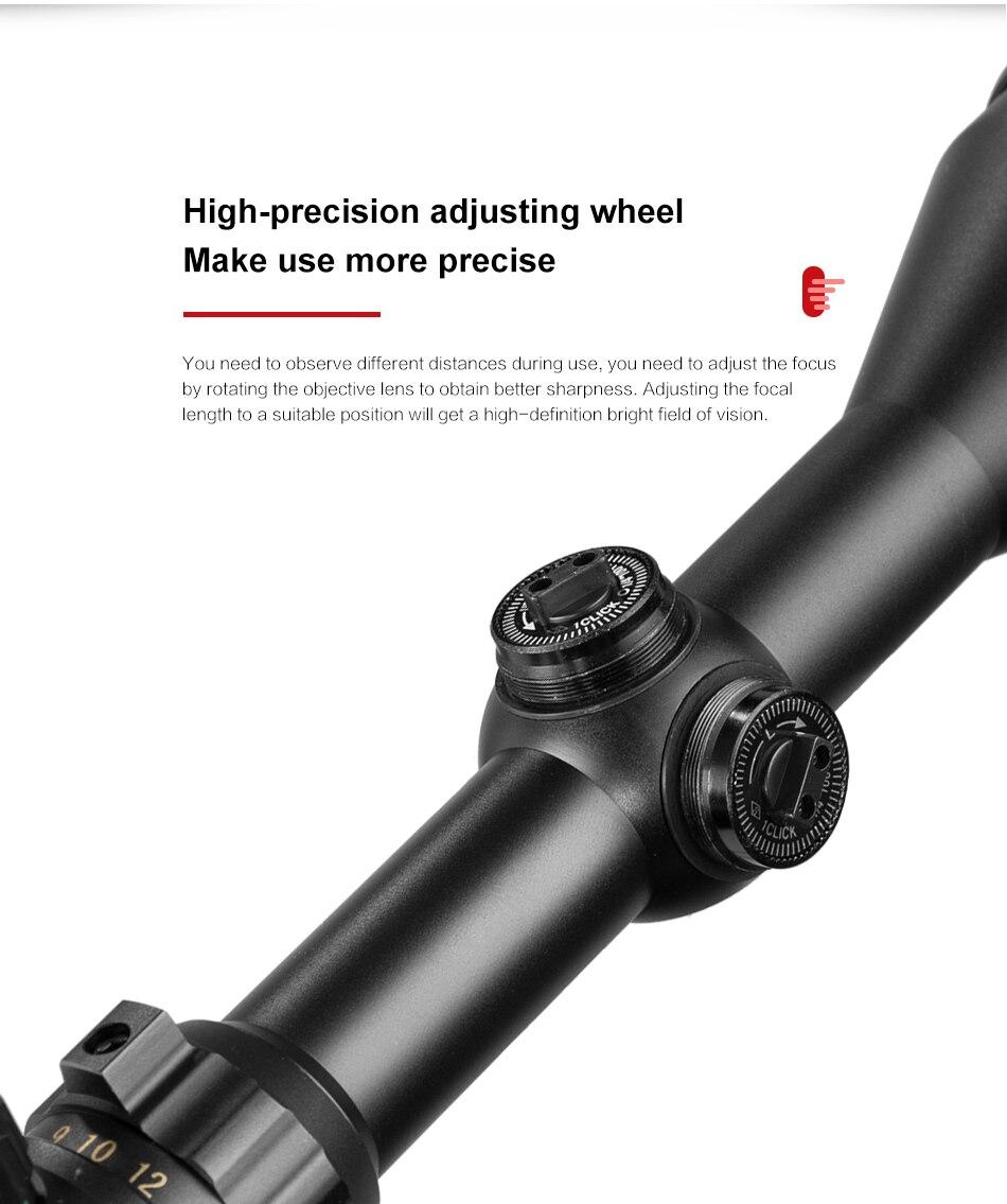 Vomz 4-16x50 aoe scope óptica rifle mira