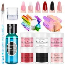 Art-Tools Acrylic-Powder Clear-Extension Builder Nail-Tips Crystal Chrome 3D for Girls