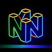 Custom Nintendo 64 Glass Neon Light Teken Bier Bar