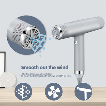Professional Salon Hair Dryer Negative Ion Blower Hair Care Electric Hairdryer Hot Cold Wind Strong Power Memory Styling Tool 53 professional hair dryer salon negative ion blow dryer electric hairdryer barber salon tools hot cold wind air collecting nozzle