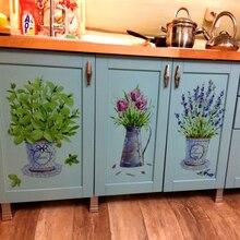DIY настенные наклейки домашний декор горшок для комнатных цветов бабочка кухня Окно стекло ванная комната наклейки водонепроницаемый