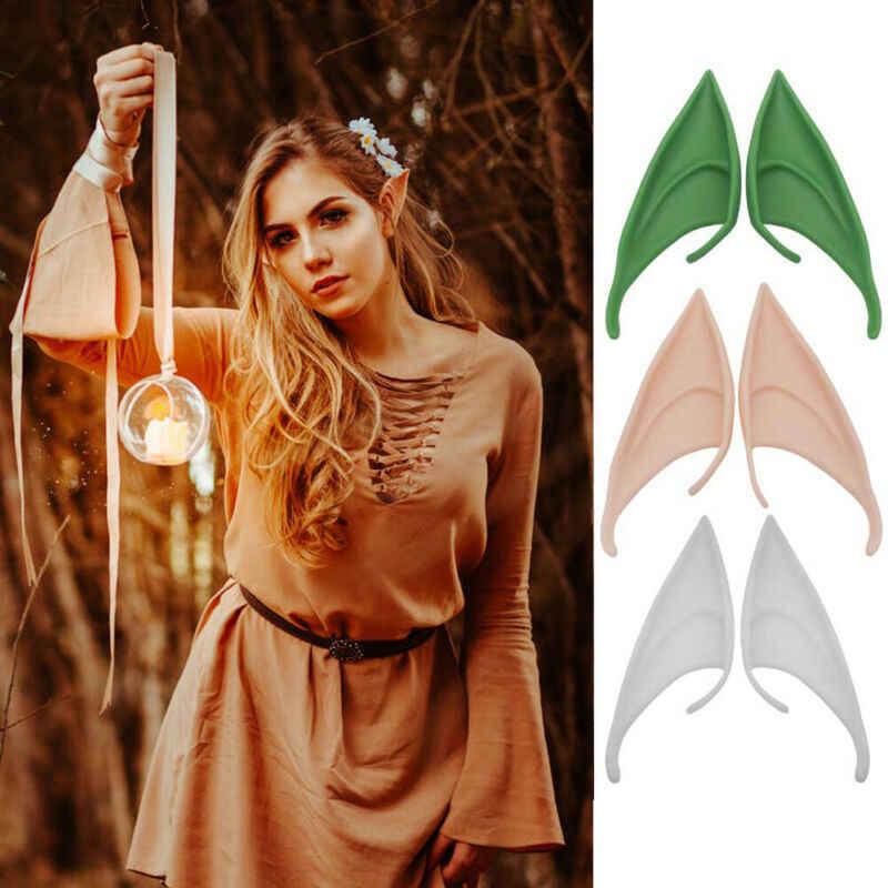 Halloween 1 para 10 12cm lateksowe uszy elfa Fairy Pixie Cosplay hak na Fancy Dress uszy akcesoria Party Prop