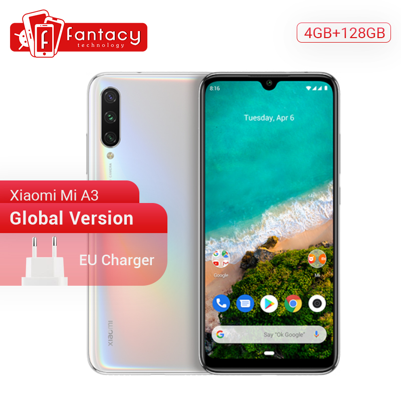 Global Version Xiaomi Mi A3 MiA3 4GB 128GB Smartphone Snapdragon 665 48MP Triple Cameras 32MP Front Camera AMOLED Display