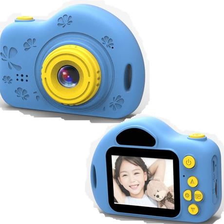 Мультяшная цифровая камера, детские игрушки, креативная развивающая игрушка для детей, аксессуары для обучения фотографии, подарки на день рождения, детские товары - Цвет: X7 Blue