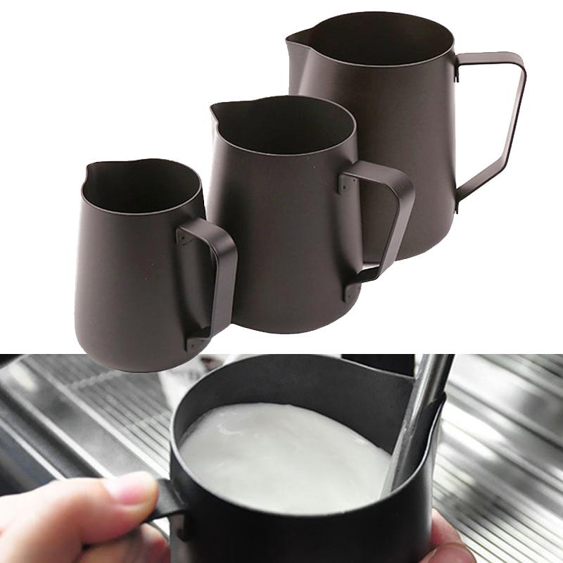 600ml 1pcs Non-Stick Stainless Steel Pitcher Milk Frothing Jug 350/600ML Espresso Coffee Pitcher Coffee Latte Milk Jug Pitcher title=