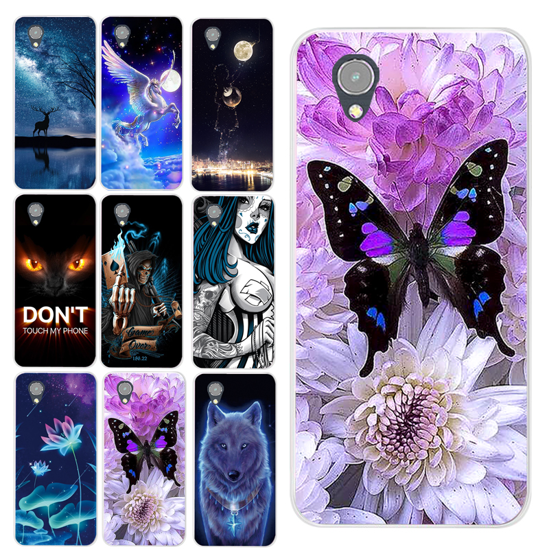 Beautiful Animal Butterfly Cat Wolf Milu Flower Lotus Printing Case For Vodafone Smart E9 VFD528 VFD 528 Cover Shell Phone Cases