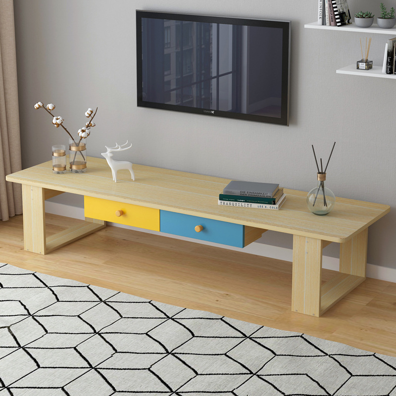 On Behalf Of TV Cabinet Teapoy Table Modern Minimalist Small Apartment Living Room Furniture Set Combination Multi-functional Ca