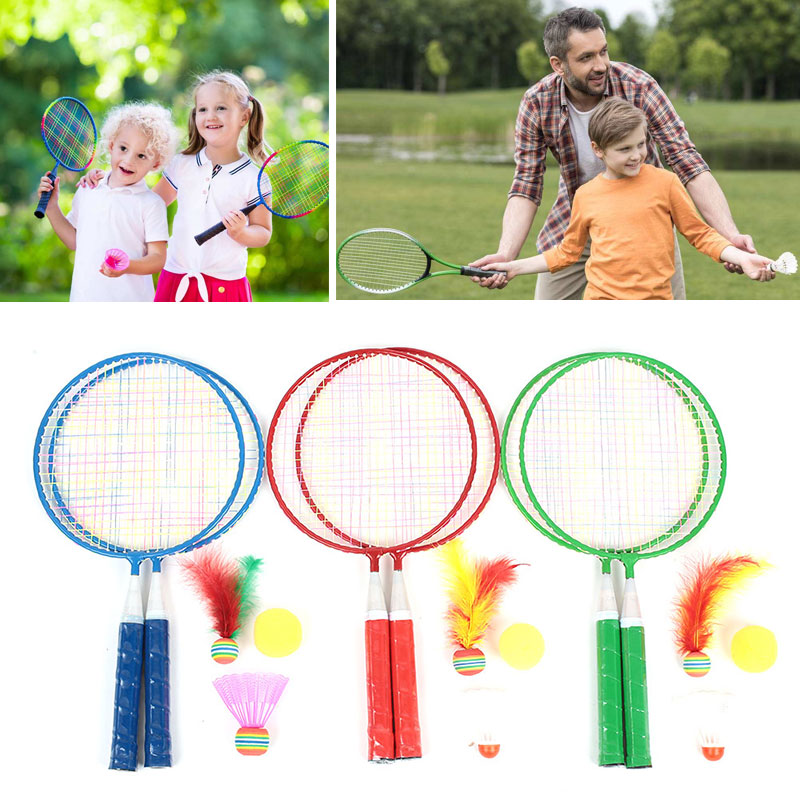 Badminton Set Children Badminton Racket Toys Baby Sports Random Color Metal Badminton Racket Movement Child School