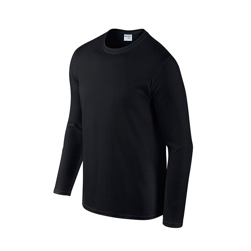 2020 Европейская и американская популярная футболка с круглым вырезом и длинным рукавом мужская Спортивная простая тонкая спортивная одежда...
