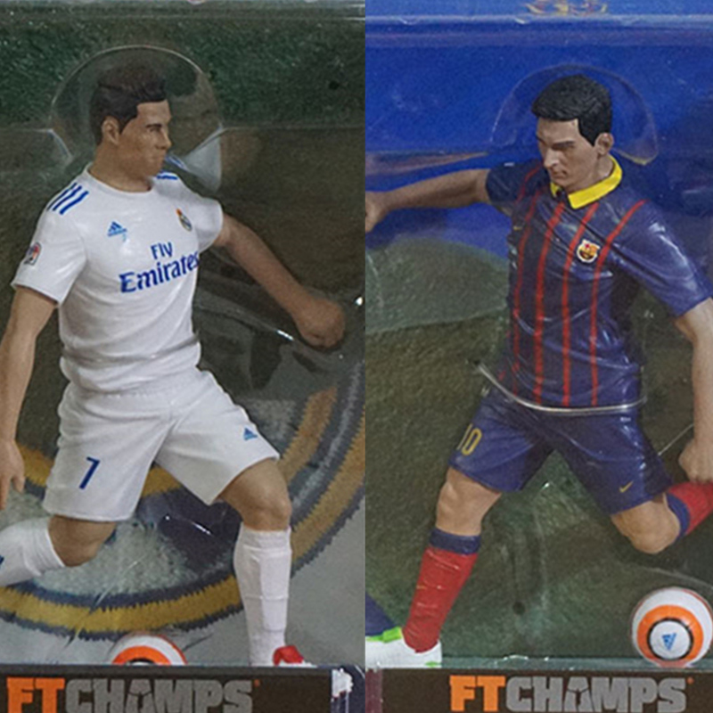 Collectible Football star Lionel Messi Static model Toys Figure Doll Ronaldo model Collection Kids Gifts Display