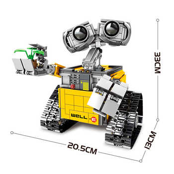 Legoing Creator Series Idea Robot WALL E Movie Figures 687PCS Building Blocks Compatible Creator Legoed EVE Children Toys WELL E