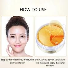 Gold Moisturizing Eye Mask Patch 60pcs=30pairs Crystal Collagen Eye Mask Anti Age Sleep Mask Dark Circles Remover Face Care R1
