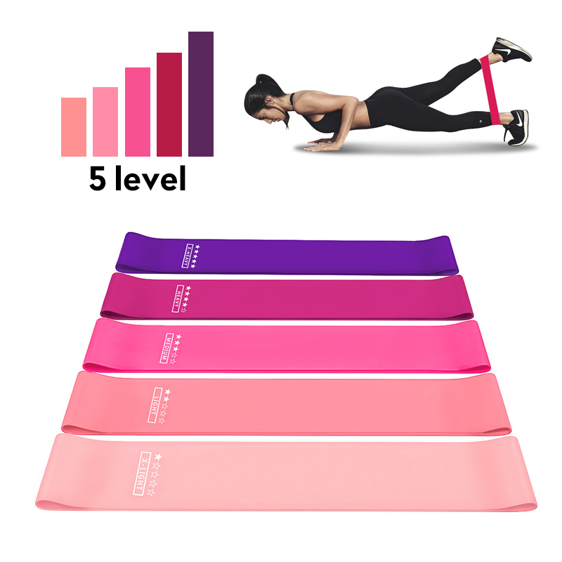 Rubber Resistance Bands Set Pilates Elastica Booty Exercise Bands Workout Training Pull Expander Fitness Equipment for Home Gym 1