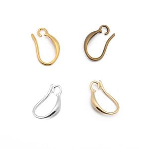 Image 5 - 20 sztuk obsada miedzi kobieta moda francuskie kolczyki ucha haki drutu 10*15mm DIY biżuteria dokonywanie ustalenia akcesoria hurtownie